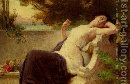 An Afternoon Rest by Guillaume Seignac - Reproduction Oil Painting