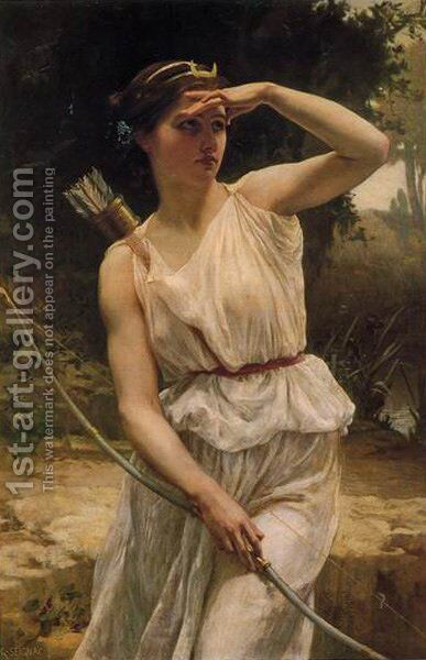 Diana Hunting by Guillaume Seignac - Reproduction Oil Painting