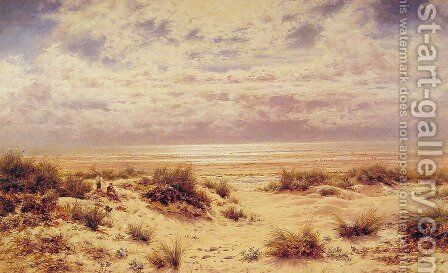 Low Tide On The South Coast by Benjamin Williams Leader - Reproduction Oil Painting