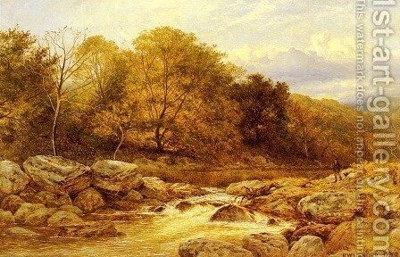 On The Llugwy  North Wales by Benjamin Williams Leader - Reproduction Oil Painting