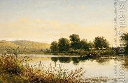 Streatley On Thames by Benjamin Williams Leader - Reproduction Oil Painting