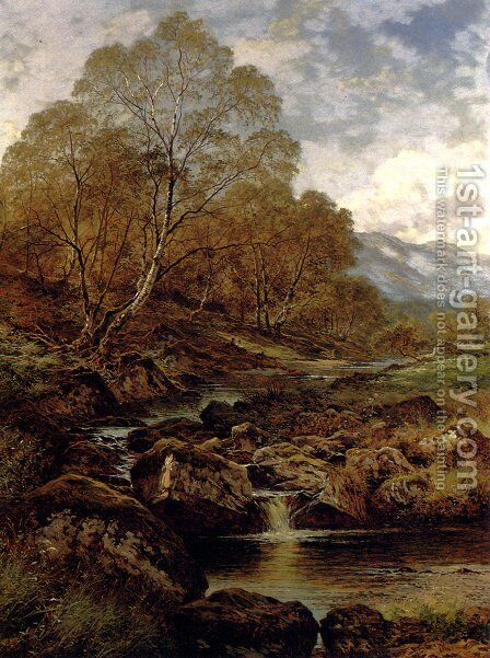 The Stream From The Hills Of Wales by Benjamin Williams Leader - Reproduction Oil Painting