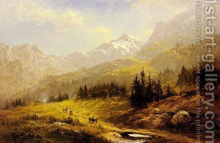 The Wengen Alps  Morning In Switzerland by Benjamin Williams Leader - Reproduction Oil Painting