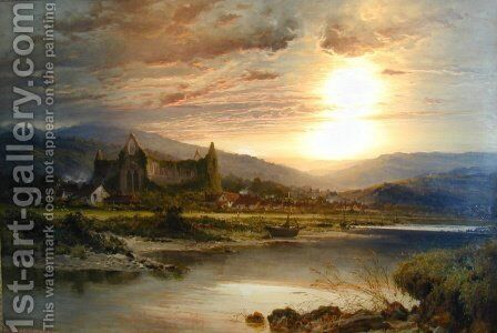 Tintern Abbey by Benjamin Williams Leader - Reproduction Oil Painting