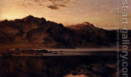 When The West With Evening Glows by Benjamin Williams Leader - Reproduction Oil Painting