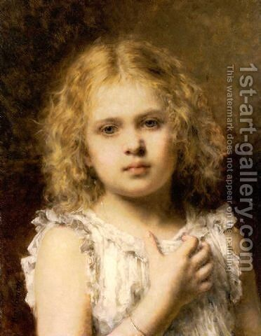 A Young Beauty by Alexei Alexeivich Harlamoff - Reproduction Oil Painting
