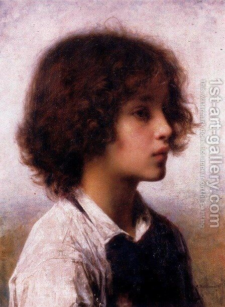 Faraway Thoughts by Alexei Alexeivich Harlamoff - Reproduction Oil Painting