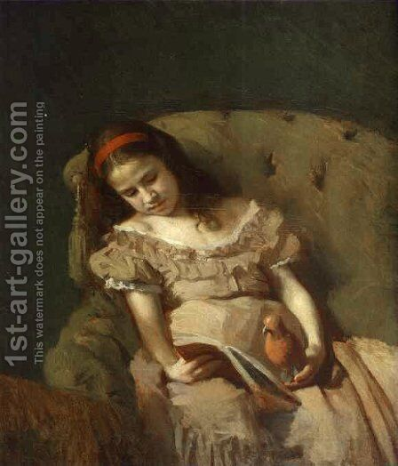 Books Got Her by Ivan Nikolaevich Kramskoy - Reproduction Oil Painting