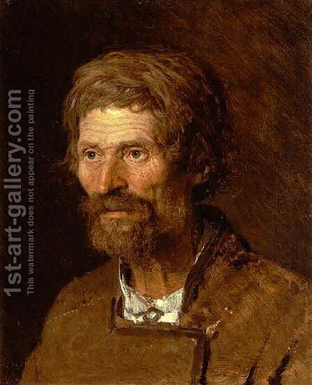 Head Of An Old Ukranian Peasant by Ivan Nikolaevich Kramskoy - Reproduction Oil Painting