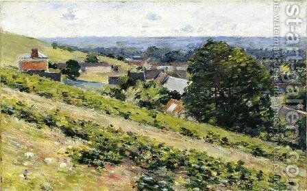 From The Hill  Giverny by Theodore Robinson - Reproduction Oil Painting
