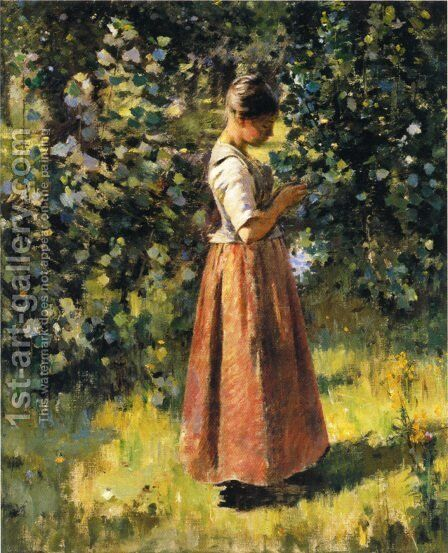 In The Grove by Theodore Robinson - Reproduction Oil Painting