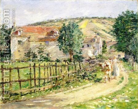 Road By The Mill by Theodore Robinson - Reproduction Oil Painting