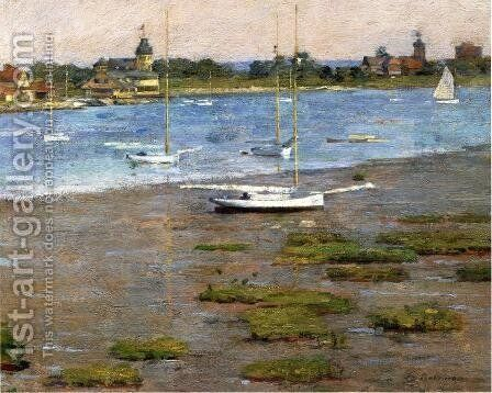 The Anchorage  Cos Cob by Theodore Robinson - Reproduction Oil Painting