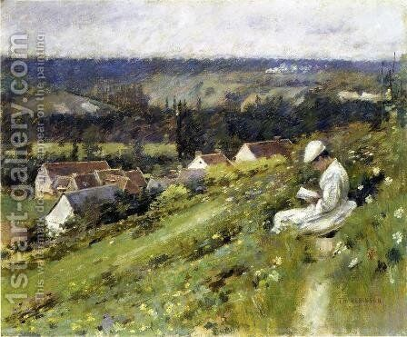 Val D Arconville by Theodore Robinson - Reproduction Oil Painting