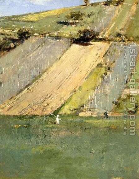 Valley Of The Seine  Giverny by Theodore Robinson - Reproduction Oil Painting