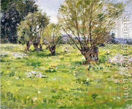 Willows And Wildflowers2 by Theodore Robinson - Reproduction Oil Painting