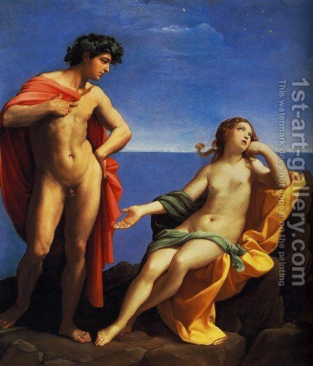 Bacchus And Ariadne by Guido Reni - Reproduction Oil Painting