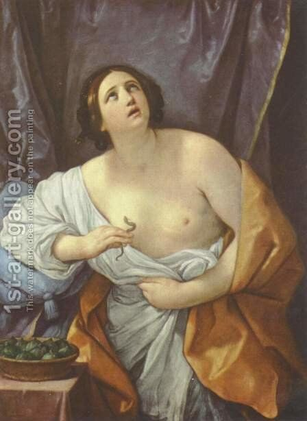 Cleopatra 1635-40 by Guido Reni - Reproduction Oil Painting
