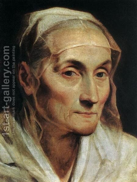 Portrait of an Old Woman 1611-12 by Guido Reni - Reproduction Oil Painting