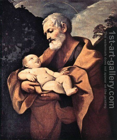 St Joseph by Guido Reni - Reproduction Oil Painting