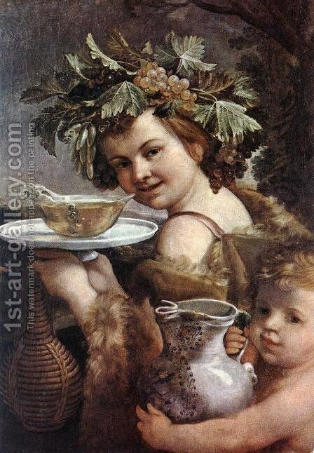 The Boy Bacchus 1615-20 by Guido Reni - Reproduction Oil Painting