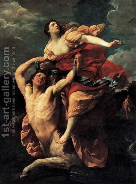 The Rape of Dejanira by Guido Reni - Reproduction Oil Painting