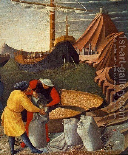 Story Of St Nicholas St Nicholas Saves The Ship by Angelico Fra - Reproduction Oil Painting