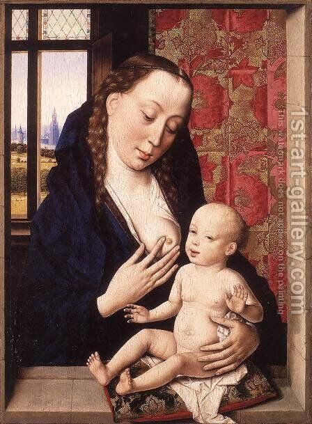 Mary and Child c. 1465 by Dieric the Elder Bouts - Reproduction Oil Painting