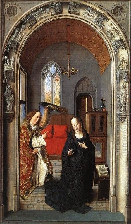 The Annunciation c. 1445 by Dieric the Elder Bouts - Reproduction Oil Painting