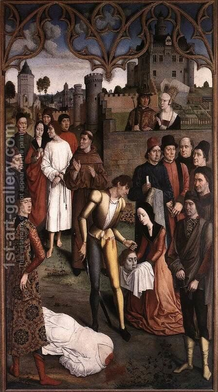 The Execution of the Innocent Count c. 1460 by Dieric the Elder Bouts - Reproduction Oil Painting