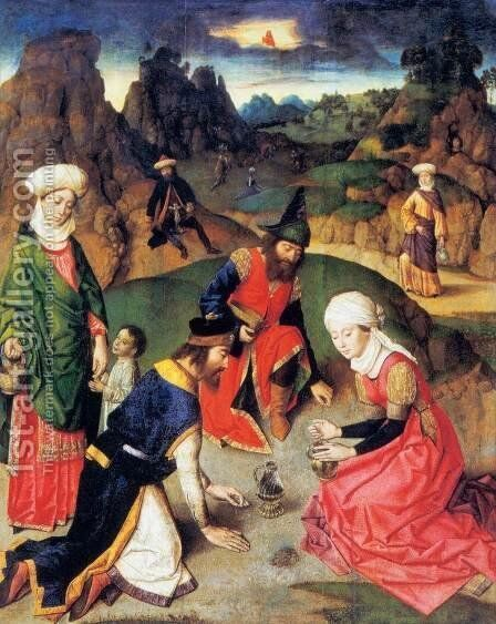 The Gathering of the Manna 1464-67 by Dieric the Elder Bouts - Reproduction Oil Painting