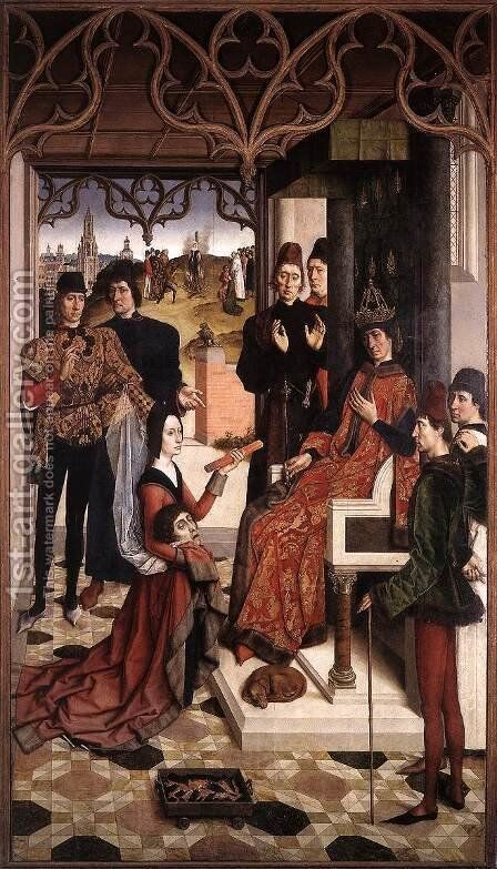 The Ordeal by Fire c. 1460 by Dieric the Elder Bouts - Reproduction Oil Painting