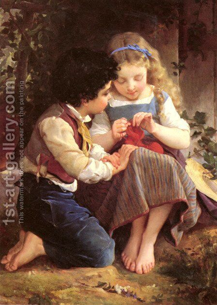 A Special Moment2 by Emile Munier - Reproduction Oil Painting