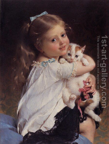 Her Best Friend by Emile Munier - Reproduction Oil Painting