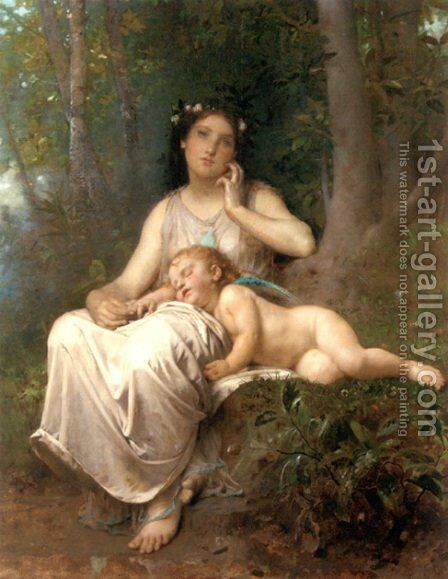 Love And Innocence by Leon-Jean-Basile Perrault - Reproduction Oil Painting