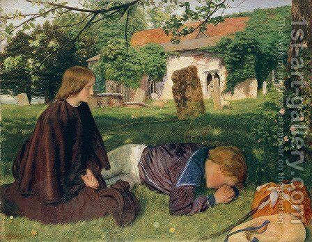 Home from Sea 1856-57 by Arthur Hughes - Reproduction Oil Painting