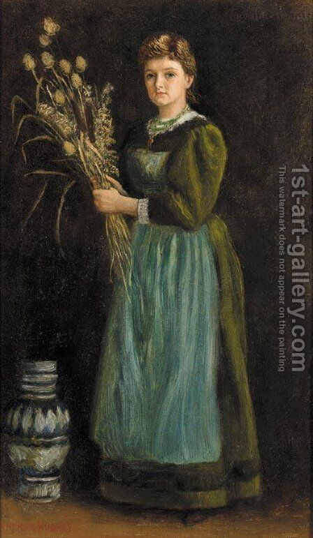 Lucy Hill by Arthur Hughes - Reproduction Oil Painting