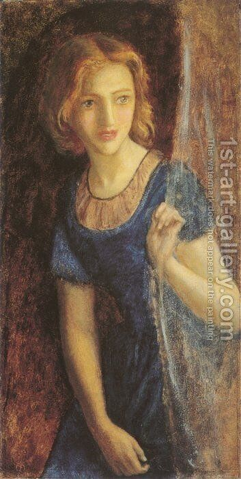 Mariana At The Window by Arthur Hughes - Reproduction Oil Painting