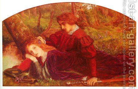 The Brave Geraint by Arthur Hughes - Reproduction Oil Painting