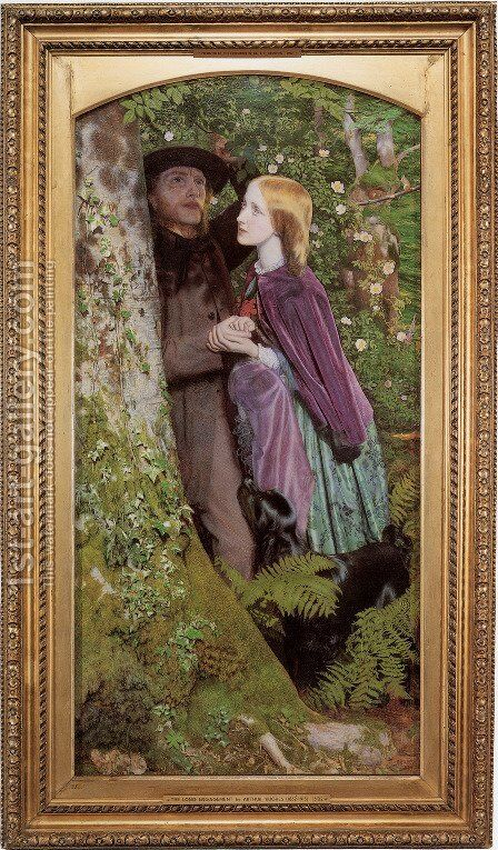 The Long Engagement 1853-55 by Arthur Hughes - Reproduction Oil Painting