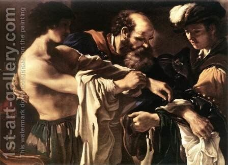 Return Of The Prodigal Son 1619 by Giovanni Francesco Guercino (BARBIERI) - Reproduction Oil Painting