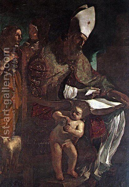 St Augustine by Giovanni Francesco Guercino (BARBIERI) - Reproduction Oil Painting