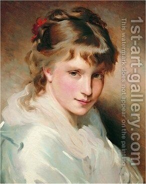 Portrait Of An Unknown Beauty by Charles Chaplin - Reproduction Oil Painting