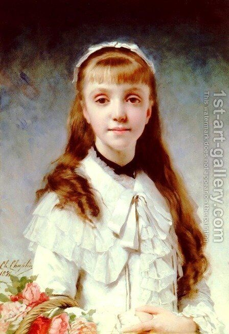 Sweet Innocence by Charles Chaplin - Reproduction Oil Painting