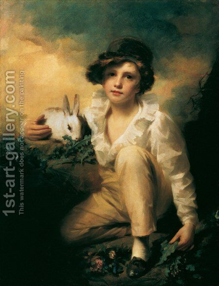 Boy And Rabbit by Sir Henry Raeburn - Reproduction Oil Painting