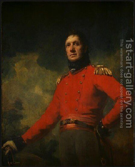 Colonel Francis James Scott by Sir Henry Raeburn - Reproduction Oil Painting