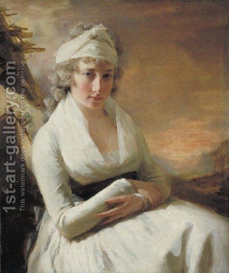 Jacobina Copland by Sir Henry Raeburn - Reproduction Oil Painting