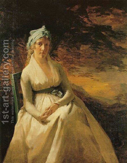 Portrait Of Mrs  Andrew by Sir Henry Raeburn - Reproduction Oil Painting