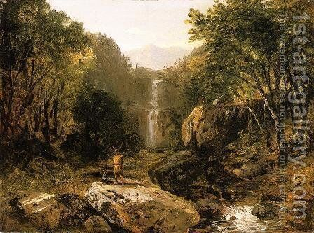Catskill Mountain Scenery by John Frederick Kensett - Reproduction Oil Painting