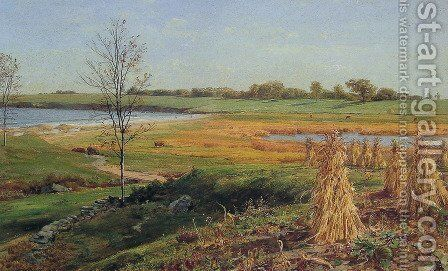 Connecticut Shoreline In Autumn by John Frederick Kensett - Reproduction Oil Painting